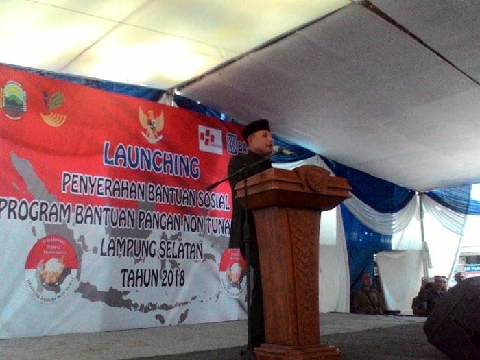 Plt.Nanang Ermanto, Hadir Dalam Lounching Program Bantuan Pangan Non Tunai