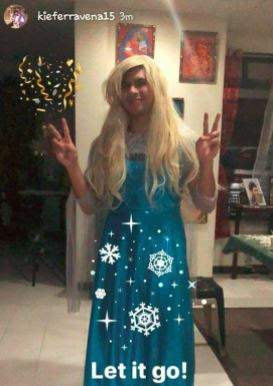 Kiefer Ravena Elsa Frozen Let It go