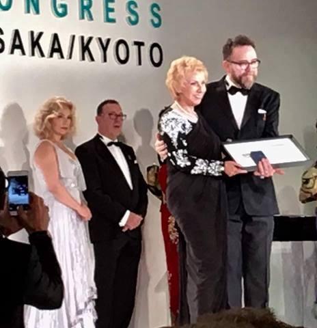 Blossom Kochhar recieving the prestigious Night Award