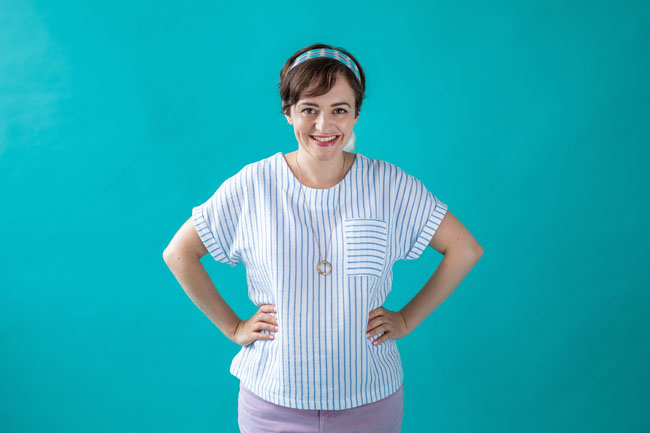 Tilly's dreamy double gauze Stevie top - Tilly and the Buttons