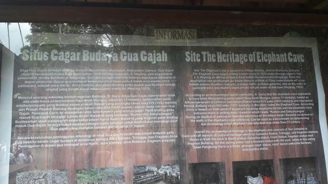 Keterangan tentang Goa Gajah