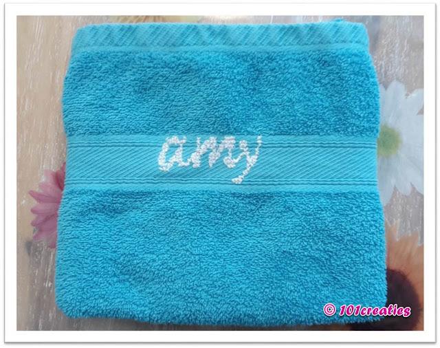 Handdoek personaliseren met naam