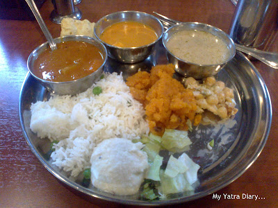 Indian Thali - Veg. meal in Japan ISKCON temple