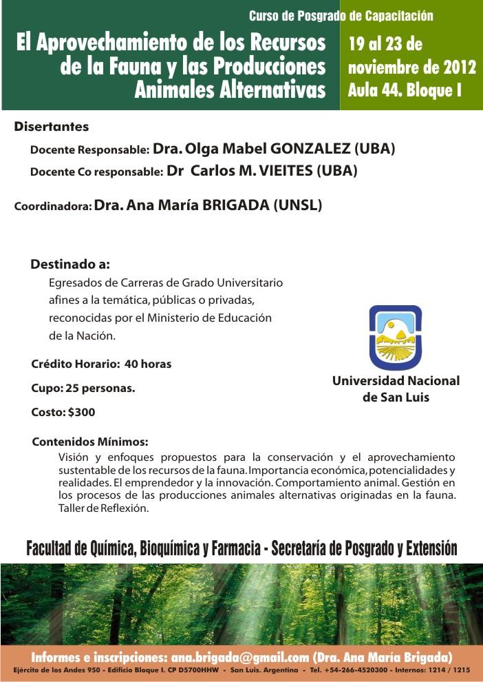 Programa Sustentabilidad Ambiental Curso Aprovechamiento