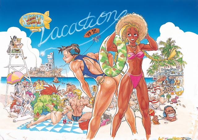 Super Street Fighter II Vacation Artwork