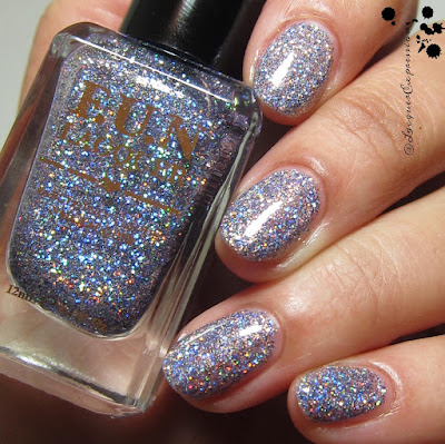 swatch of The Art of Sparkle (H) nail polish by F.U.N. Lacquer