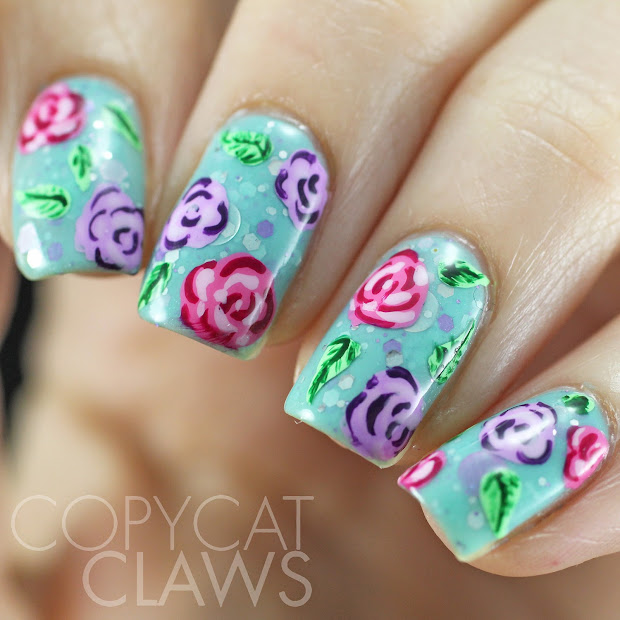 beautiful rose nails ideas