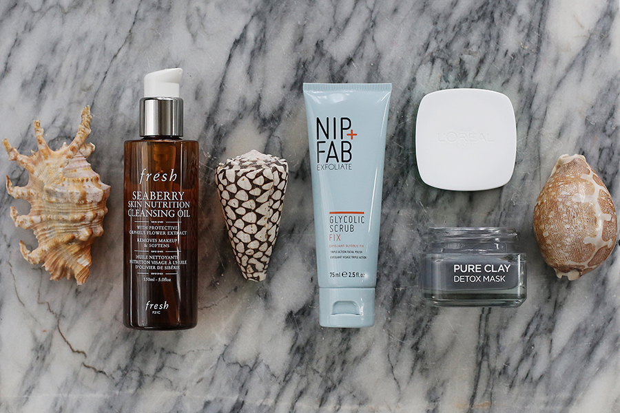 My comprehensive skincare collection and day routine, night routine; and weekly routine for getting rid of sebaceous filaments, blackheads, whiteheads etc.