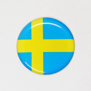 雫屋 国旗3Dステッカー スウェーデン