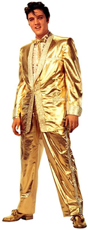 Elvis wore this complete Gold Lame Costume Tuxedo only once. It was featured on the 50000000 Elvis Fans Canu0027t be Wrong album cover which was released in ...  sc 1 st  Chris Elvis Tribute Show & Chris Elvis Tribute Show: Elvis Presleyu0027s Jumpsuit Day