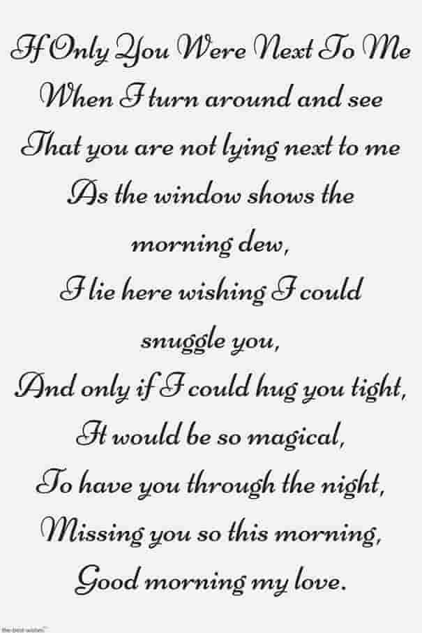 missing you poem to my love