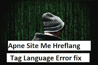 Apne Site Me Hreflang Tag Language Error fix kare