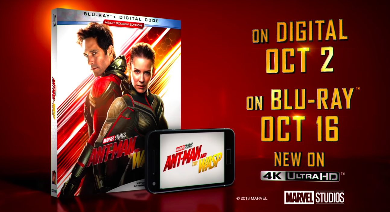 ANT-MAN AND THE WASP Will Release on Digital HD on October 2 and