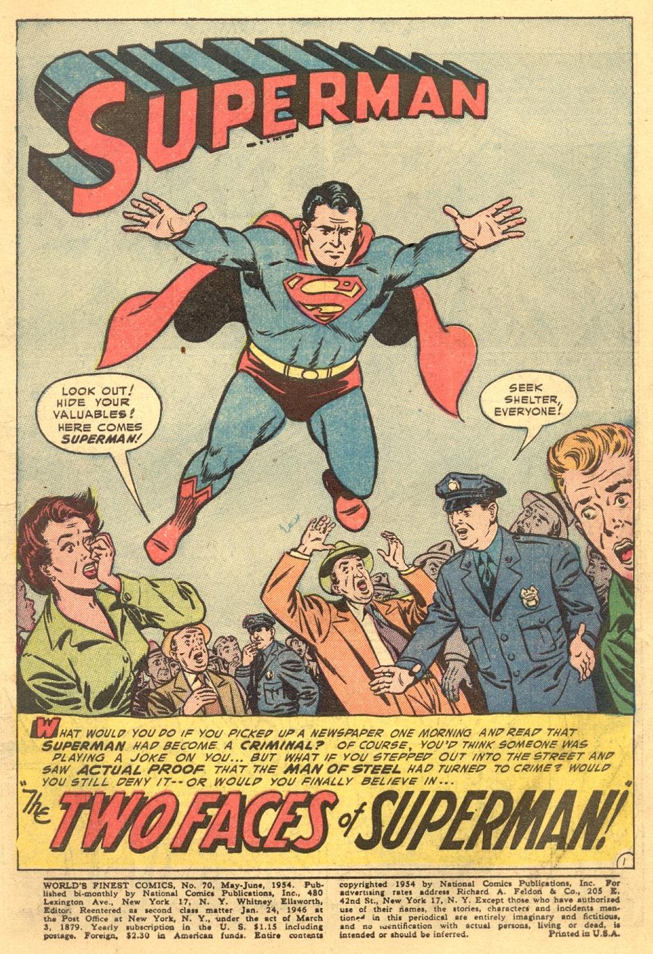 Read online World's Finest Comics comic -  Issue #70 - 3