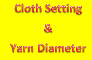 Cloth Setting and Yarn Diameter in Weaving