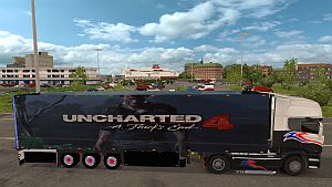 Uncharted 4 skin for Refrigerated Trailer