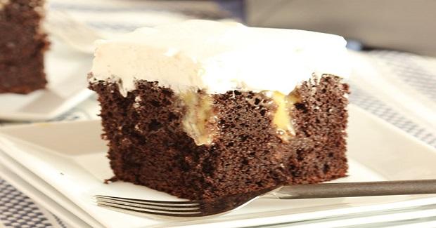Chocolate Root Beer Float Poke Cake Recipe