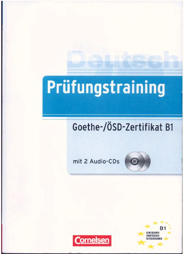 Book Goethe ösd Zertifikat B1 Pdf Cd Learn German