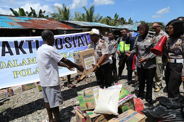 Satuan Lalulintas Polres Mimika Gelar Jalan Santai dan Bhakti Sosial