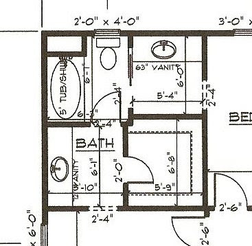 Our new home the plan modifications - What is a jack and jill bathroom ...