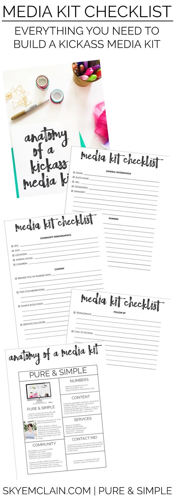 How to Build a KICKASS Media Kit from skyemclain.com