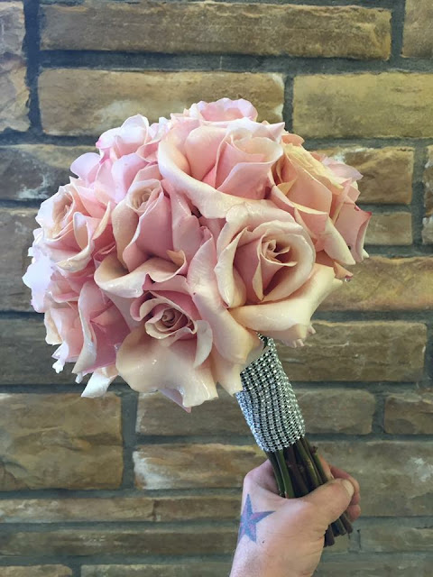 Blush Pink Rose Bridal Bouquet by Stein Your Florist Co.