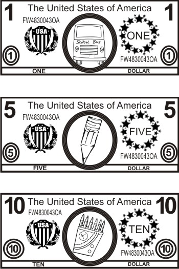 dollar bill coloring page - free money coloring pages dollar bills kids coloring pages