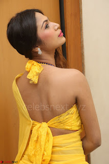 Nishigandha in Yellow backless Strapless Choli and Half Saree Spicy Pics 144.JPG
