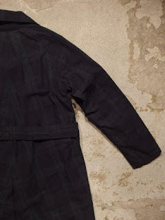 "FWK by Engineered Garments ""Reversible Coat in Blackwatch Cotton Poplin/Dk.Navy Uniform Serge"""
