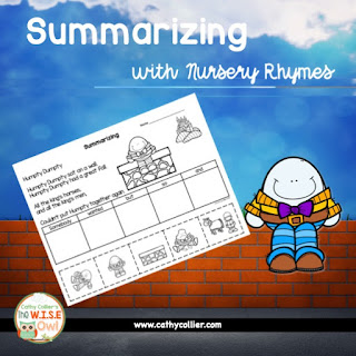 Early readers can learn to summarize with practice and supports. Using the SWBSA technique with Nursery Rhymes and Fairy Tales can offer such supports. Give them tools not excuses.
