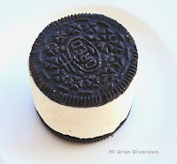 Sandwich Cheescake chocolate blanco y oreo