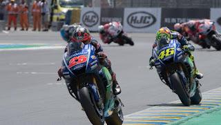MOTO GP - Rossi cae en la última vuelta y regala a Maverick Viñales la victoria en Le Mans