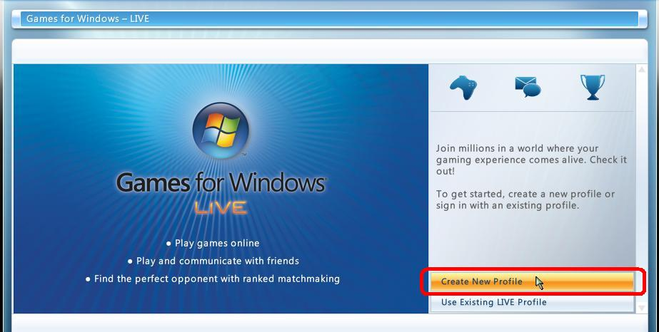 profile games for windows live