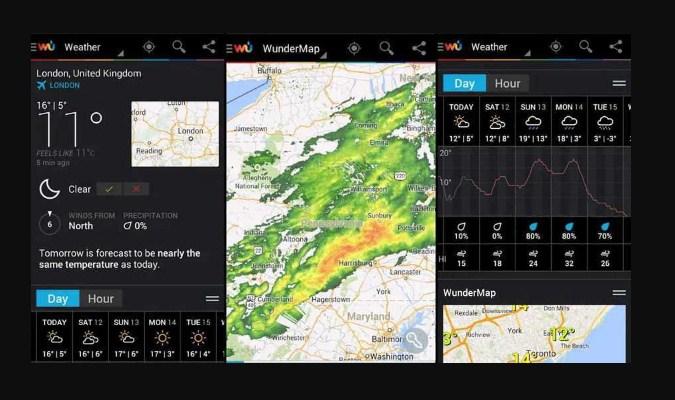 Widget Prakiraan Cuaca iPhone - Weather Underground