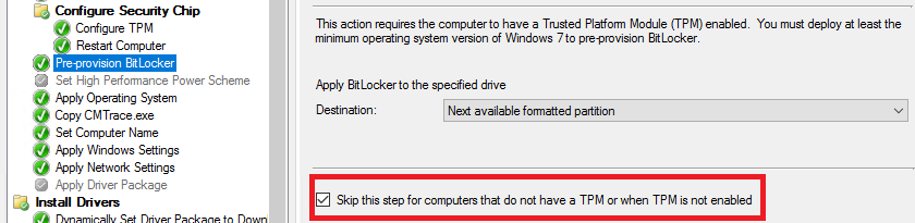 Preparing the TPM for BitLocker Pre-Provisioning in Windows 10 for