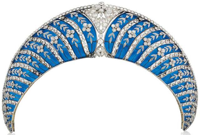 westminster chaumet blue enamel kokoshnik tiara