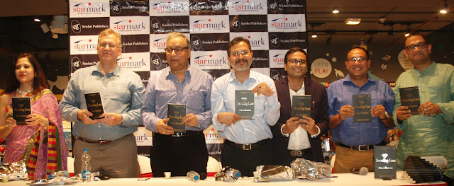 News : Mahul Brahma's book on luxury Decoding Luxe launched. From Left-Saira, Jonathan, Jawhar, Vinaya, Mahul, Kounteya, Arnab