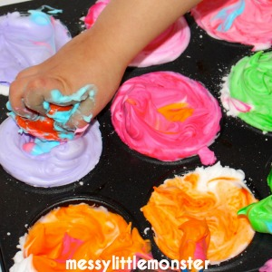 painting ideas for kids - diy bath paints paints