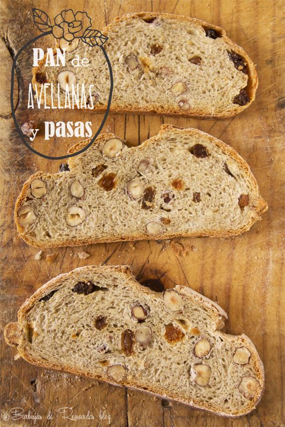 Pan de avellanas y pasas rubias con masa madre