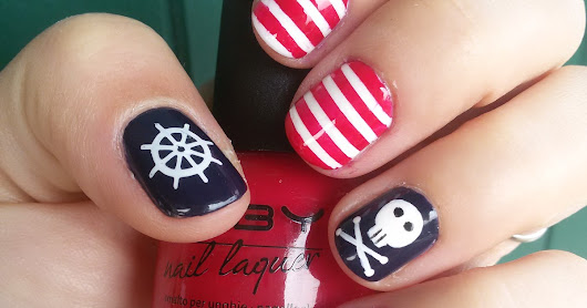The nails of the week: Pirates nails!