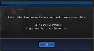Reward title Point Blank