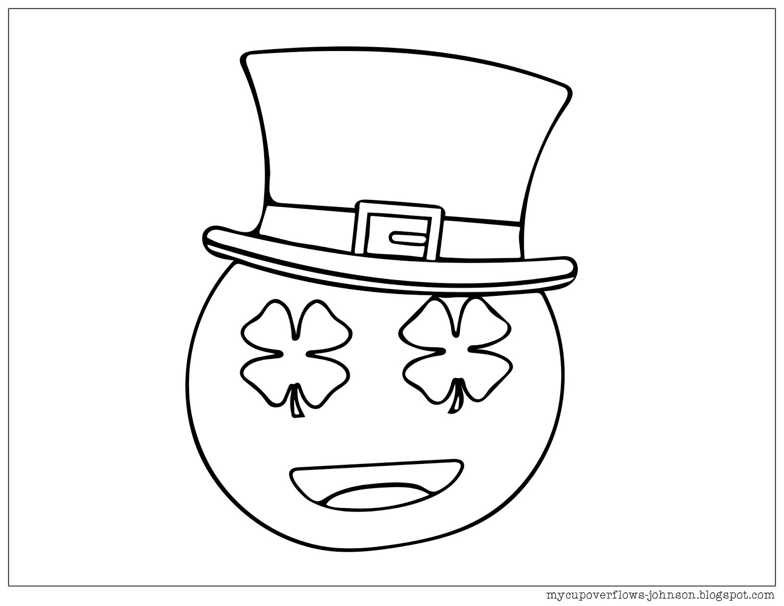 My Cup Overflows St Patrick S Day Coloring Pages