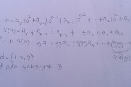 Soal No 5 OSK Matematika 2018