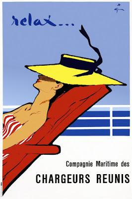 Rene Gruau Relax poster circa 1950