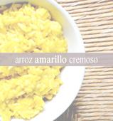 Arroz amarillo cremoso