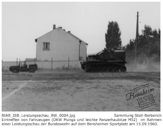Leistungsschau der Bundeswehr auf dem Sportplatz in Bensheim, 1960, Aufnahmen: Jürgen Stoll-Berberich
