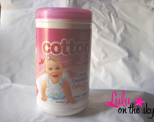 Cotton Line Lenços Umedecidos Baby Care Girl.