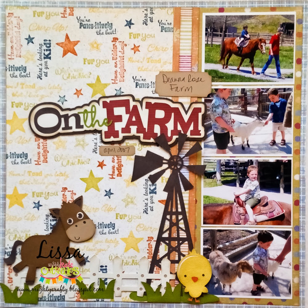 On the Farm layout for Scrappy Moms Stamps and Miss Kate Cuttables -- www.MightyCrafty.me