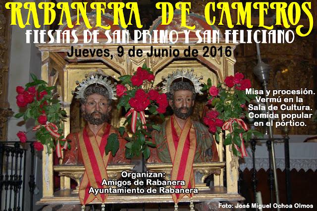 - Jueves, 9 de Junio - - Rabanera de Cameros - - San Primo y San Feliciano -