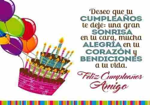 Palabras para desear feliz cumpleaños a tu amigo a quien estimas mucho